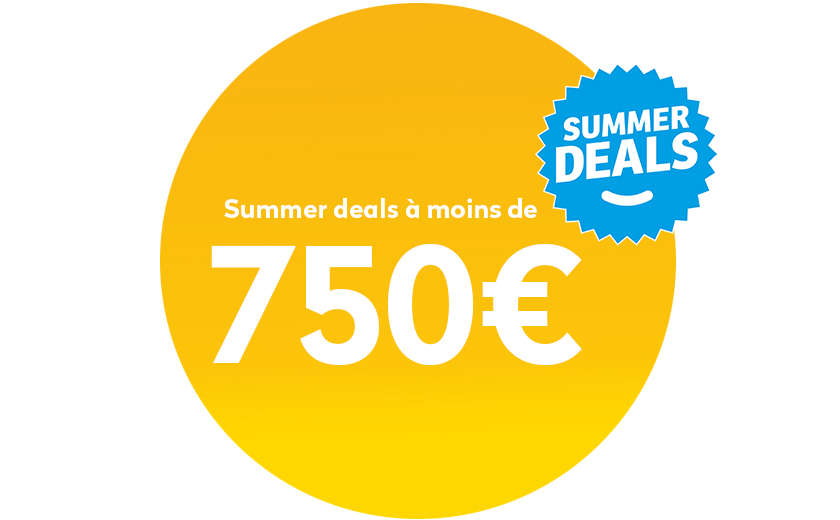 Summer deals onder 750€