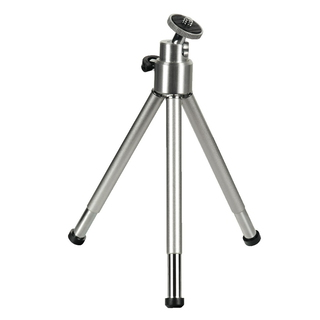 Hama Mini Tripod with Ball Tilt Head, silver 2-sectionpieds Argent trépied