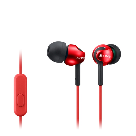 Sony MDR-EX110AP Oortjes - Rood