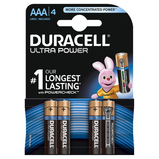 Duracell AAA Ultra Power (4pcs) Alcaline 1.5V pile non-rechargeable