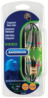 Bandridge 3x RCA + 3x RCA câble - 2m - BVL3302