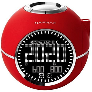 NafNaf Sunstech CLOCKINE Wekkerradio - Rood