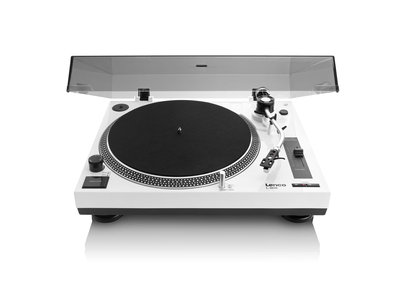 Lenco L-3808 Direct drive audio turntable Noir, Blanc