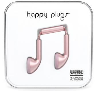 Happy Plugs Earbud Écouteurs - Rose/Or