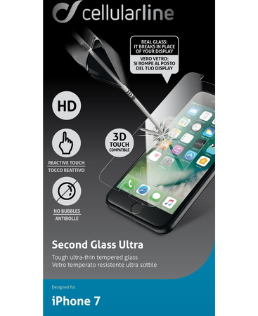 Cellular Line Protection d'écran transparent iPhone 7
