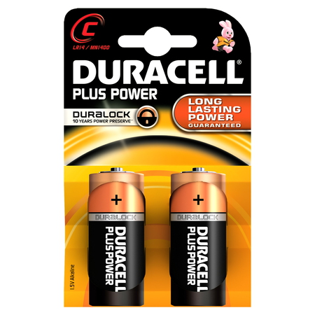 Duracell C Plus Power batterijen (2 stuks)