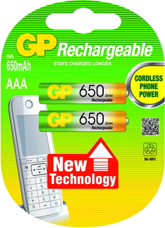GP Batteries NiMH rechargeable batteries AAA Hybride Nickel Metal 650mAh 1.2V batterie rechargeable