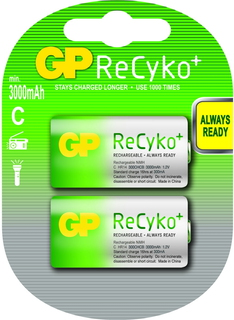 Batteries ReCyko+ C Hybride Nickel Metal 1.2V batterie rechargeable