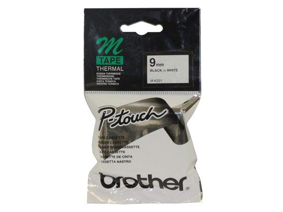 Brother Brother MK221 Zwart op wit M labelprinter-tape