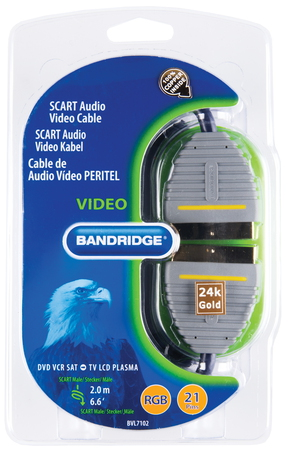 Bandridge Bandridge SCART (21-pin) + SCART (21-pin) kabel - 2m - BVL7102