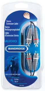 Bandridge BAL4305 5m RCA RCA Blauw audio kabel