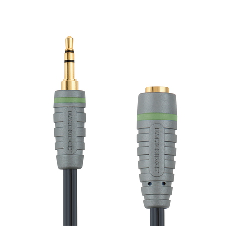 Bandridge 5m Headphone Cable 5m 3.5mm 3.5mm Zwart audio kabel