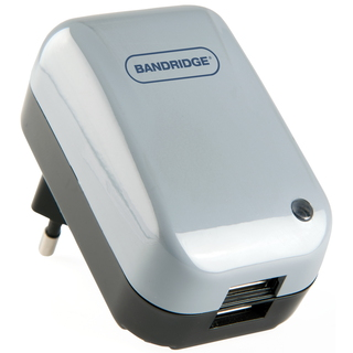 Bandridge High Current 2-Way USB Power Adapter Binnen Zwart netvoeding & inverter