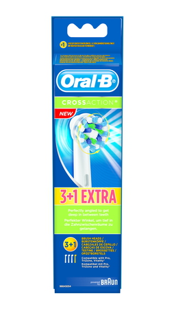 Oral-B Opzetborstels Cross Action 3+1