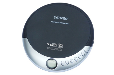 DM-389 Portable CD player Zwart, Zilver