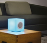 BigBen Colorcube Enceinte Bluetooth - Blanc avec LED lights