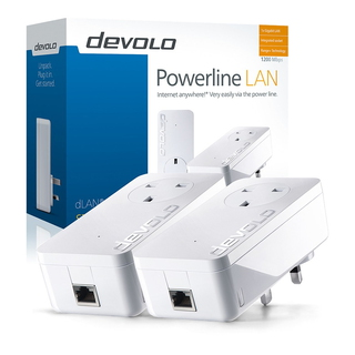 Devolo dLAN 1200+ Starter Kit 1200Mbit/s Ethernet LAN Wit 2stuk(s) PowerLine-netwerkadapter