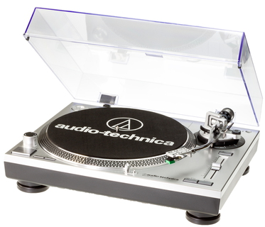 Audio-Technica AT-LP120-USBHC Belt-drive audio turntable Gris, Platine, Noir