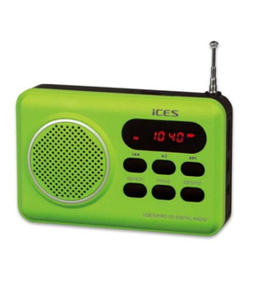 Ices Ices IMPR-112 Green Radio portable FM