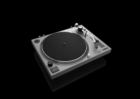 Lenco Tourne-disque L-3808 Direct drive audio turntable Noir, Gris