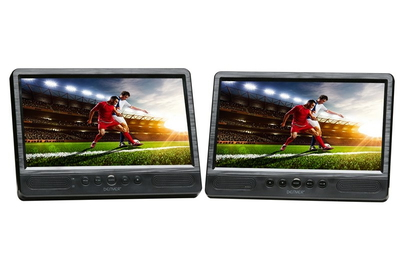 "MTW-1085TWIN Portable DVD player Wandmontage 10.1"" Zwart draagbare dvd-/Blu-rayspeler"