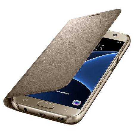 "Samsung Galaxy S7 5.1"" Valise repliable Or"