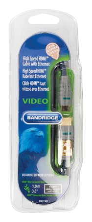 Bandridge BVL1901 HDMI + Mini-HDMI kabel - 1m