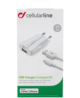 Cellular Line Oplader Apple Lightning - Wit