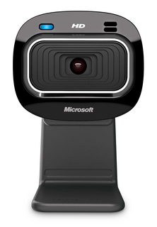 Microsoft LifeCam HD-3000 1MP 1280 x 720pixels USB 2.0 Noir webcam