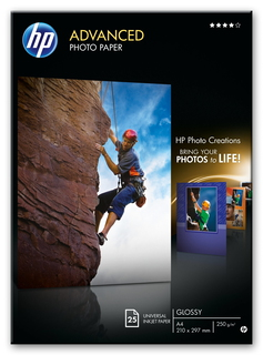 HP HP Advanced Photo Paper, glanzend, 25 vel, A4/210 x 297 mm