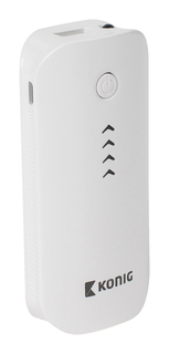 Konig Powerbank - 4400 mAh - Wit