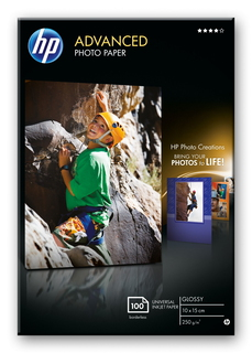 HP HP Advanced Photo Paper, glanzend, 100 vel, 10 x 15 cm randloos