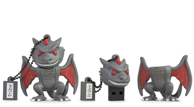 Tribe Tribe 16GB Game of Thrones Drogon 16Go USB 2.0 Type A Gris, Rouge, Blanc lecteur USB flash