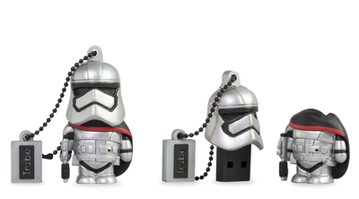 Tribe Tribe 16GB STARWARS Captain Phasma 16GB USB 2.0 Type-A Zwart, Rood, Zilver USB flash drive