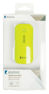 Powerbank - 4400 mAh - Jaune