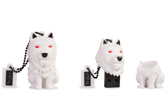 Tribe Tribe 16GB Game of Thrones Direwolf 16GB USB 2.0 Type-A Zwart, Rood, Wit USB flash drive