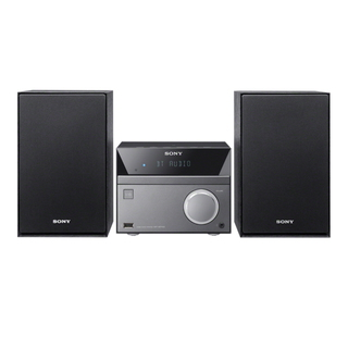 Sony CMT-SBT40D Home audio mini system 50W Noir, Gris