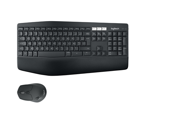 Logitech Logitech MK850 RF Wireless + Bluetooth AZERTY Belge Noir clavier