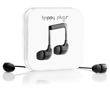 Happy Plugs Earbud In-Ear Oortjes - Zwart