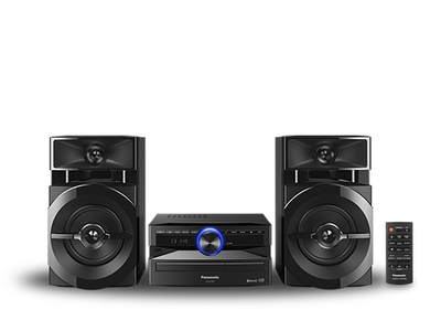 SCUX100EK Home audio mini system 300W Noir ensemble audio pour la maison