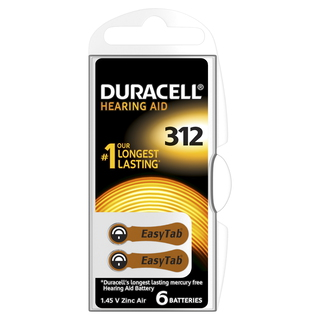 Duracell Piles auditives 312
