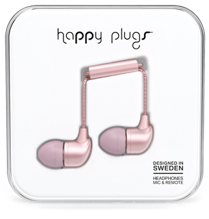 Happy Plugs PLUGS Écouteurs - Rose/Or