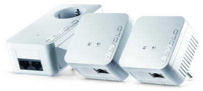 Devolo dLAN 550 WiFi Network Kit 500Mbit/s Ethernet LAN Wi-Fi Wit 3stuk(s) PowerLine-netwerkadapter