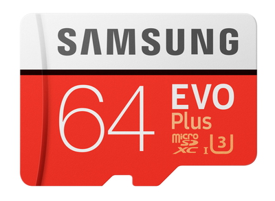 Samsung EVO Plus MB-MC64G 64Go MicroSDXC UHS-I Classe 10 mémoire flash