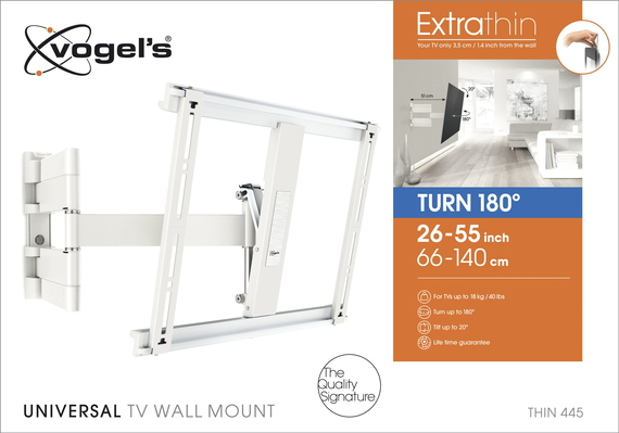 Vogels THIN 445 Support TV - Mur