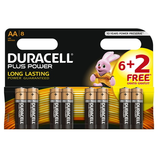 Duracell Plus Power Alcaline 1.5V pile non-rechargeable