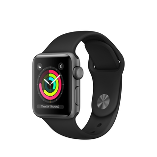 Apple Watch Series 3 38 mm Space Grey/Zwart (S/M)