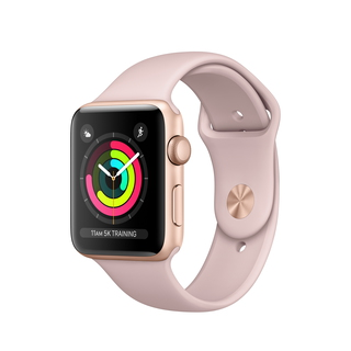 Apple Watch Series 3 42 mm Goud/Roos (M/L)