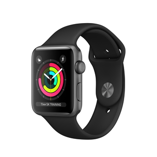Apple Watch Series 3 42 mm Space Grey/Zwart (M/L)