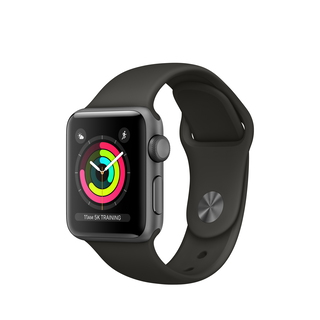 Apple Watch Series 3 38 mm Space Grey/Grijs (S/M)